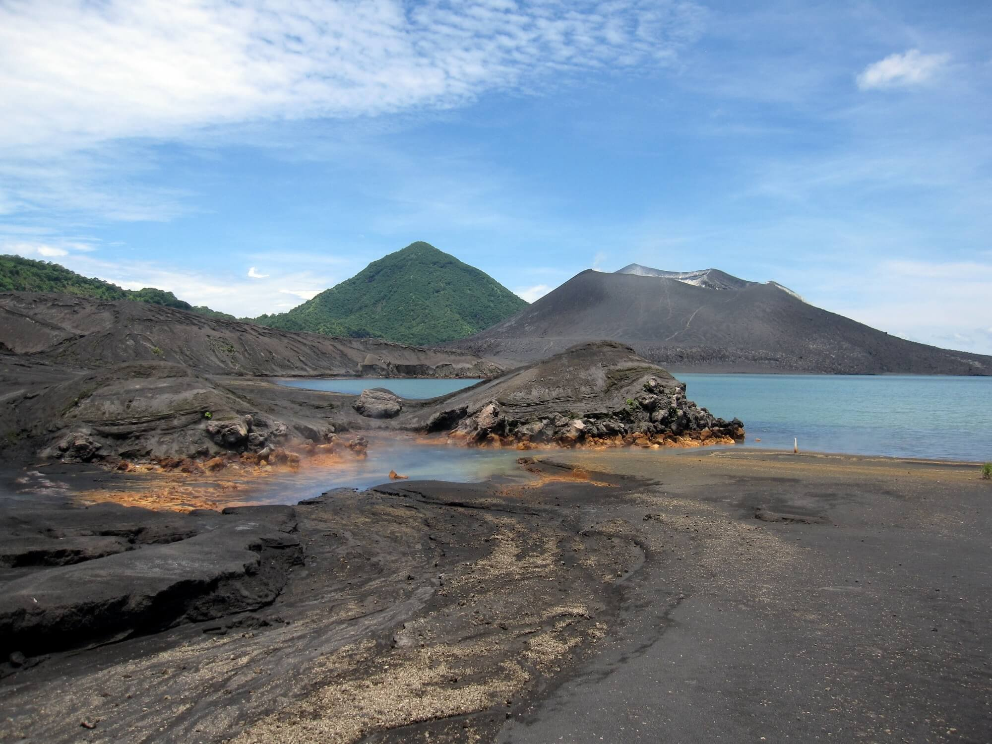Rabaul Volcano Arial : Papua New Guinea : True North Mark